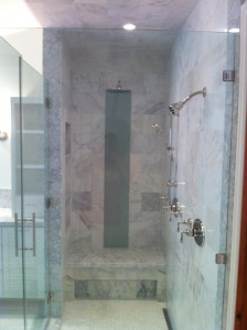 carrara walkin shower