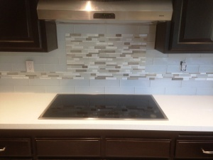 glass tile mosaic liner