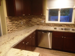 kitchen granite slab mosaic