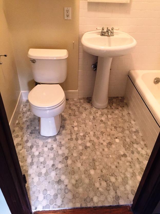 after Long beach bathroom floor