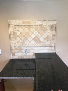 after pic of backsplash and granite counter