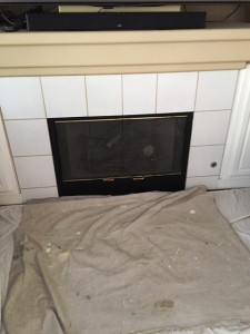 before pic fireplace la mirada