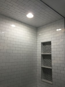 shower remodel with shower niche
